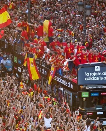 ¡En Barcelona también somos seguidores de 'la roja'!