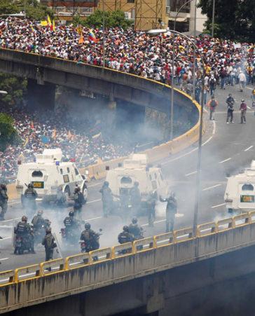 Sece de violencia en Venezuela
